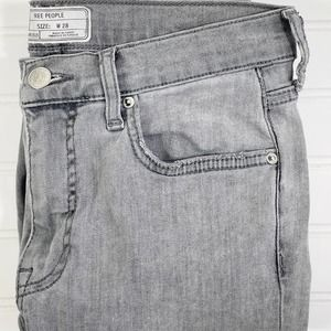 Free People Ripped Knee Gray Jeans